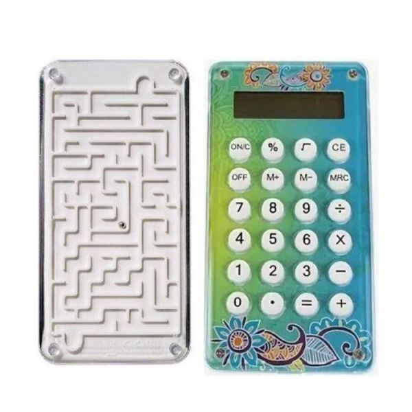 Карманный 8-разрядный калькулятор Лабиринт, цвет бирюзовый