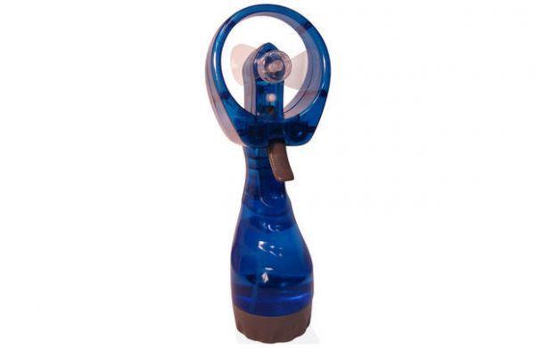 Ручной вентилятор с пульверизатором Water Spray Fan, синий