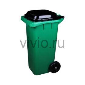 Контейнер для мусора  120л с крышкой на колесах