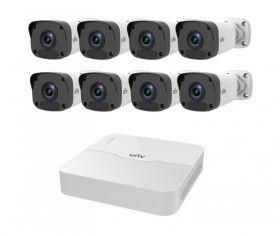 Комплект IP видеонаблюдения UNV 8