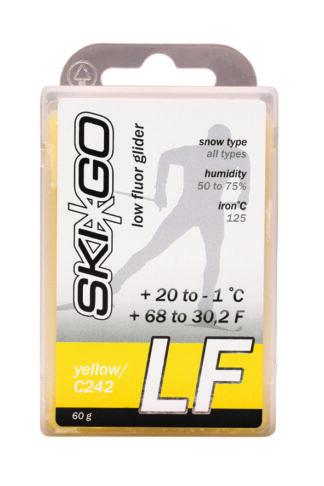 парафин skigo lf yellow низкофтористый -1/+20 60 гр