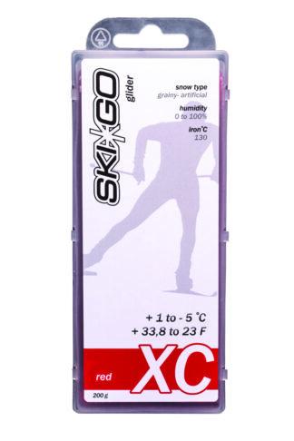 парафин skigo xc red +1/-5 200 gr