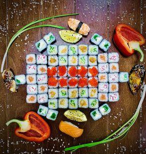 Сет Маки-Маки  1300 грамм, 60 шт, 3 суши, 1 мидия