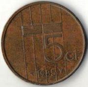 5 центов. 1985 год. Нидерланды.