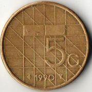 5 центов. 1990 год. Нидерланды.