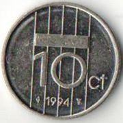 10 центов. 1994 год. Нидерланды.