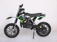 Мини кросс с электростартером бензиновый Motax 50сс бело-зеленый вид 1