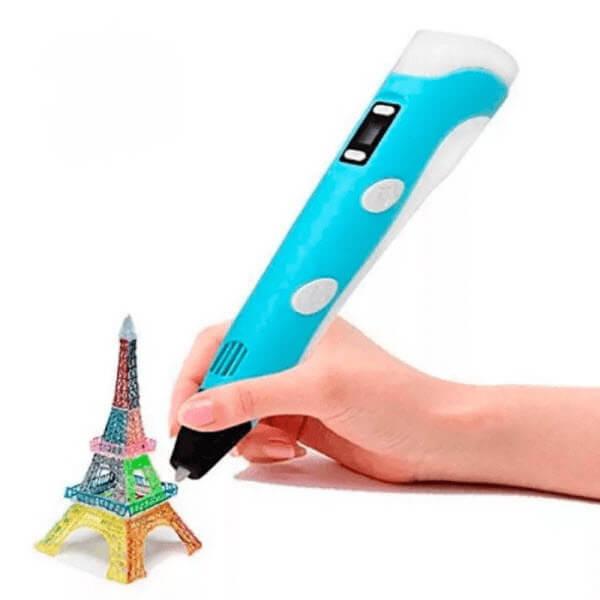 3D ручка c LCD дисплеем (3D Pen-2). Цвет: Голубой