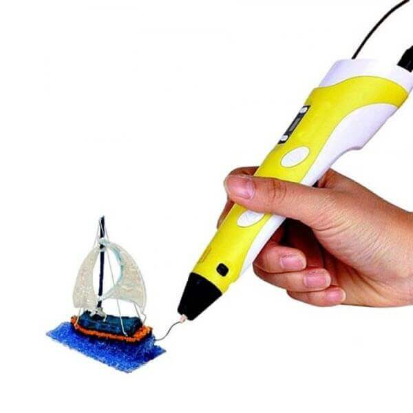 3D ручка c LCD дисплеем (3D Pen-2). Цвет: Жёлтый