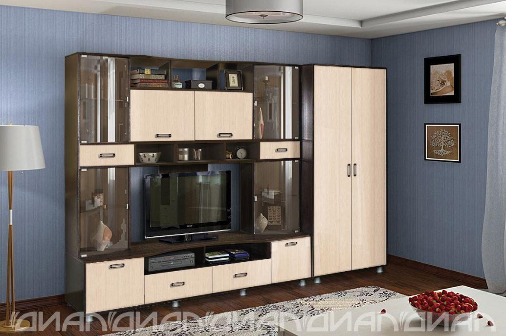 Гостиная Аллегро вариант-4 со шкафом век