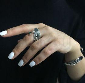 """Кольцо из серебра """"Перо"""""""