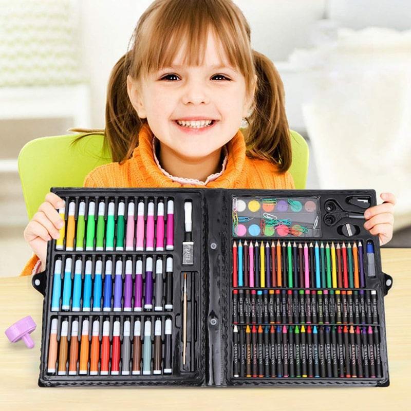 Набор Для Рисования В Чемодане Art Set 150 Предметов (Цвет Розовый)