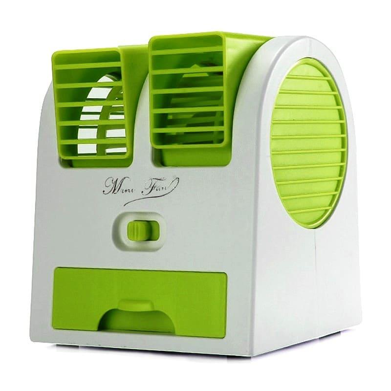 Настольный вентилятор с функцией кондиционирования и ароматизации Mini Fan HY-168, зеленый