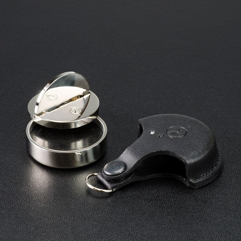 Оснастка для печати металлическая премиум в кожаном чехле