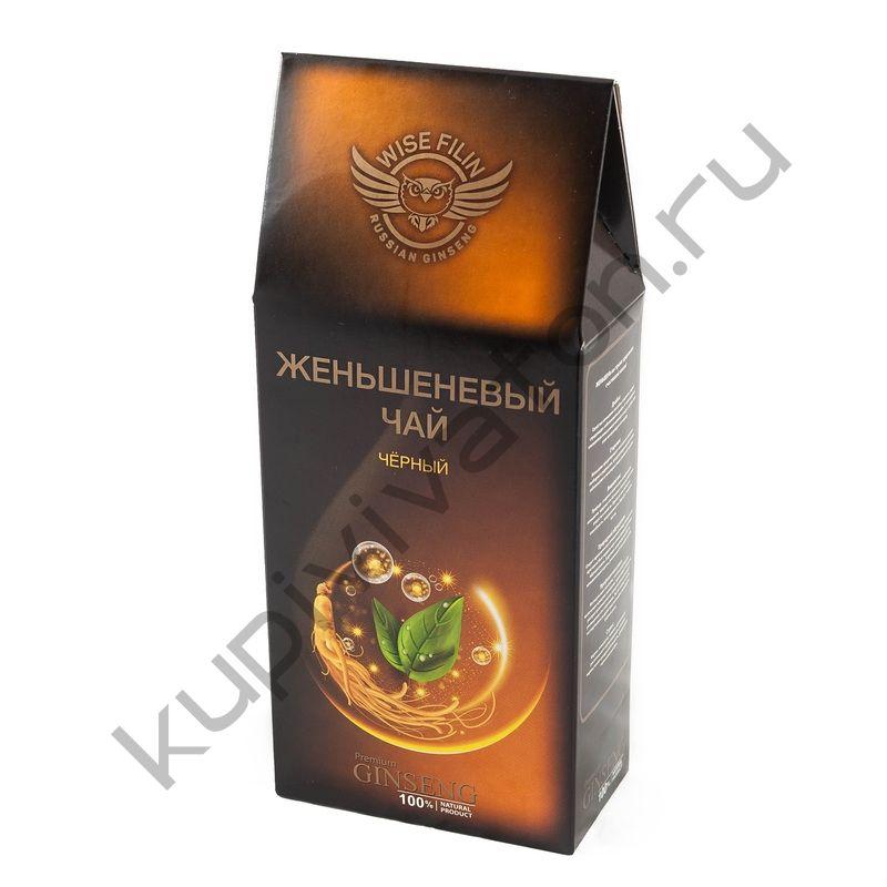 """Чай женьшеневый """"Мудрый Филин"""" черный индийский, 100 гр."""