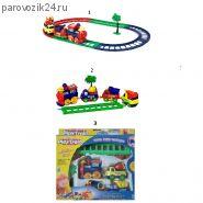 Железная дорога с паровозом и вагонами Play Train