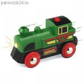 Поезд для деревянной ж/д (свет)