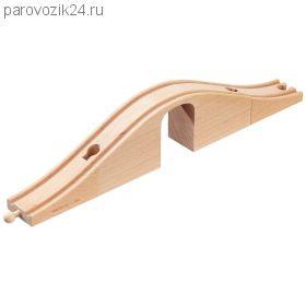Деревянный виадук с аркой для ж/д