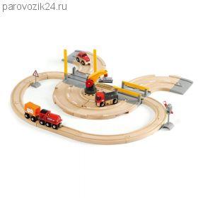 """Игровой набор """"Железная дорога"""" - Переезд и кран"""