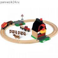 """Игровой набор """"Железная дорога с мини-фермой"""""""