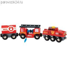 """Игровой набор для деревянной ж/д """"Пожарный поезд"""""""