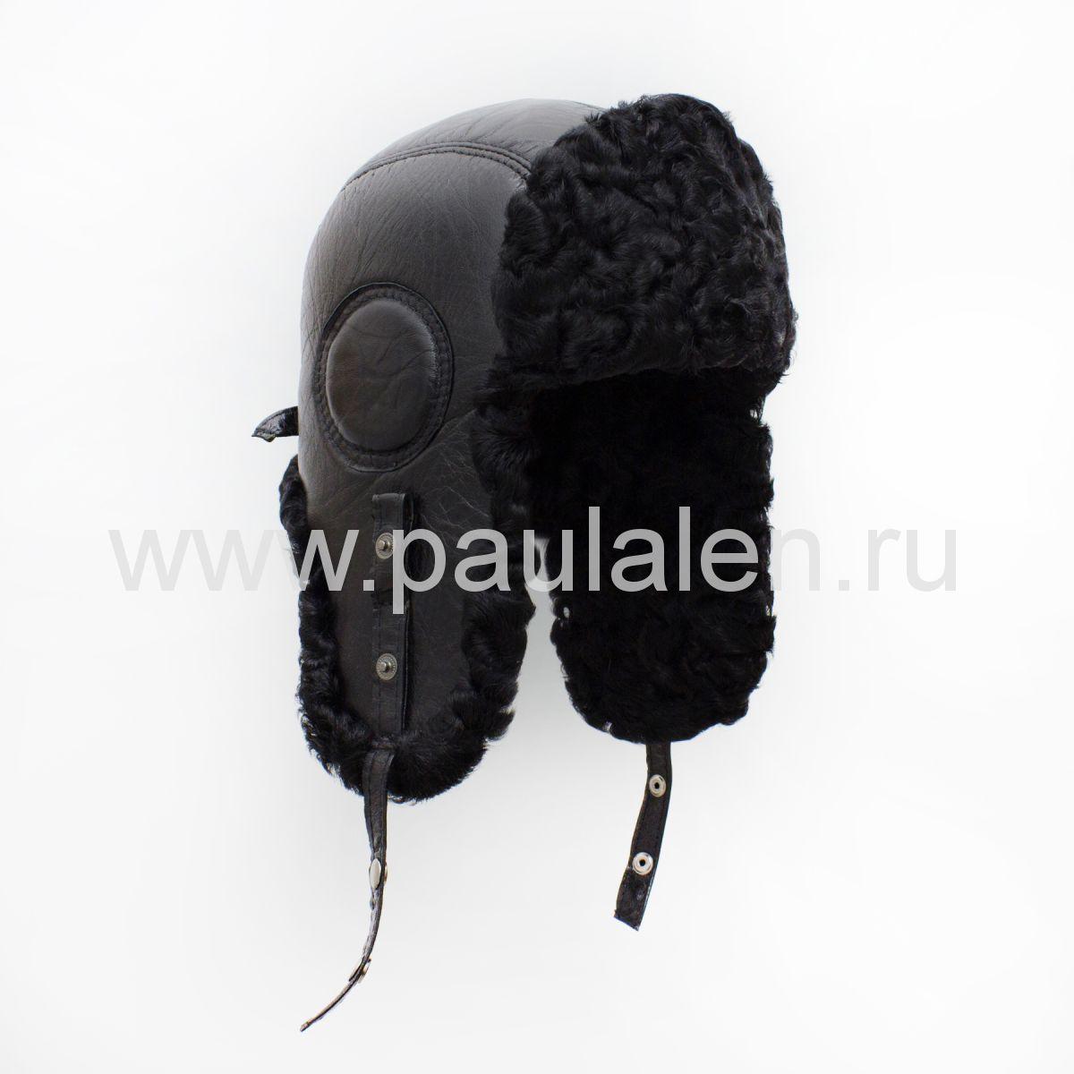 Мужская шапка-ушанка из меха Каракуля B039