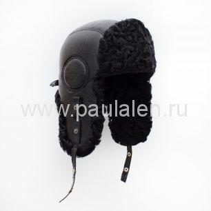 Мужская шапка-ушанка из меха Каракуля. Артикул B045_К2