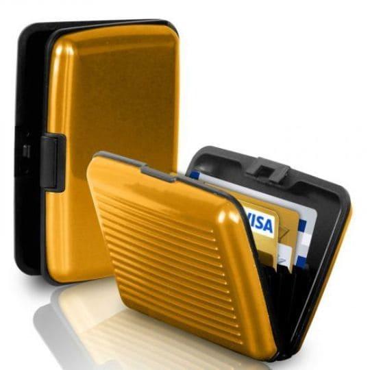 Бокс для кредитных карт Security Credit Card Wallet, золотой