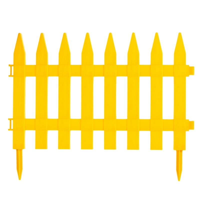 Забор декоративный № 1, 7 секций, желтый
