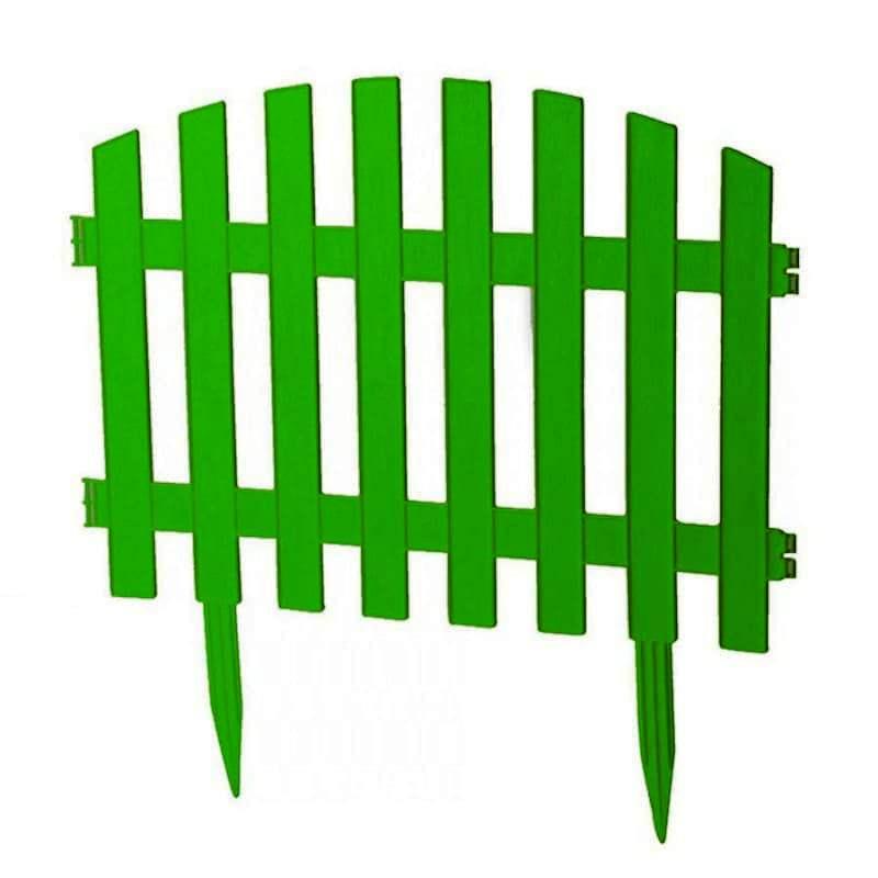 Забор декоративный № 2, 7 секций, зеленый