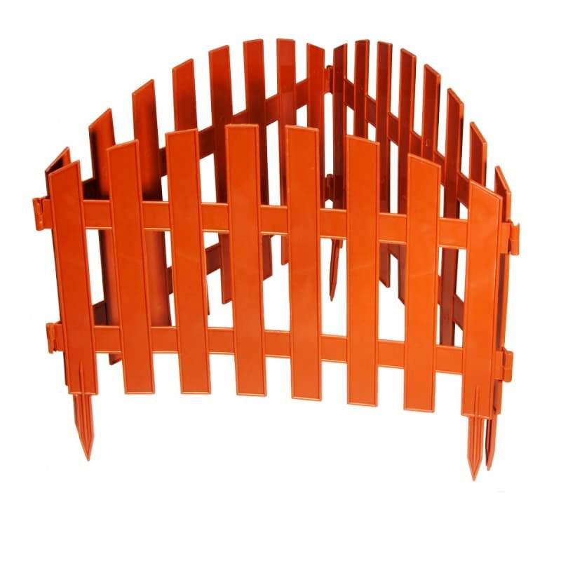 Забор декоративный № 2, 7 секций, терракотовый