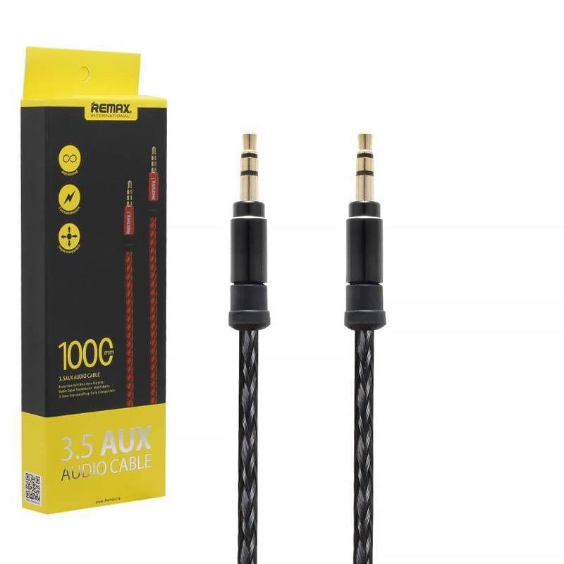 AUX кабель Remax текстильный 1.5 м