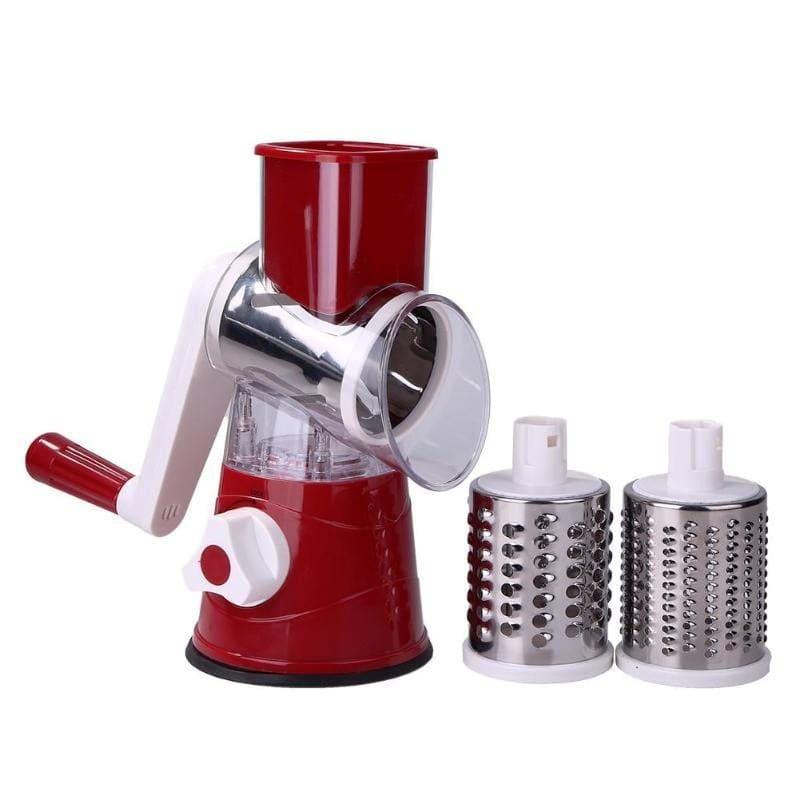 Мультислайсер для овощей и фруктов Household Rotary Cutting Machine, бордовый
