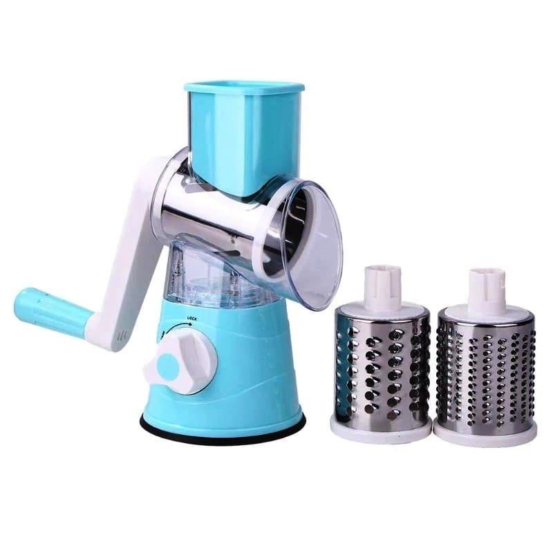 Мультислайсер для овощей и фруктов Household Rotary Cutting Machine, голубой