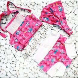 Кити (белые манжеты) Пляжный комплект