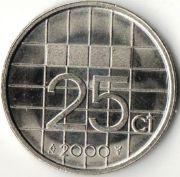25 центов. 2000 год. Нидерланды.