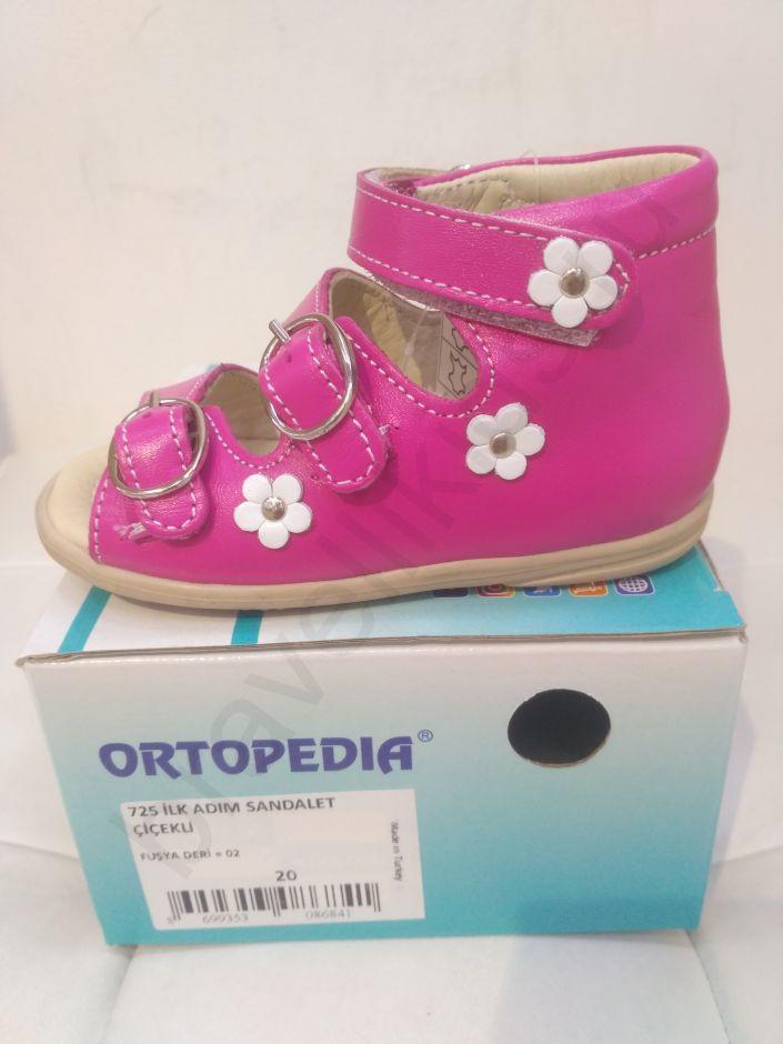 725 Ortopedia Сандалии Первые шаги (18-20) в розовом цвете