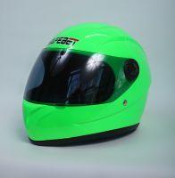 Шлем интегральный салатовый вид 2