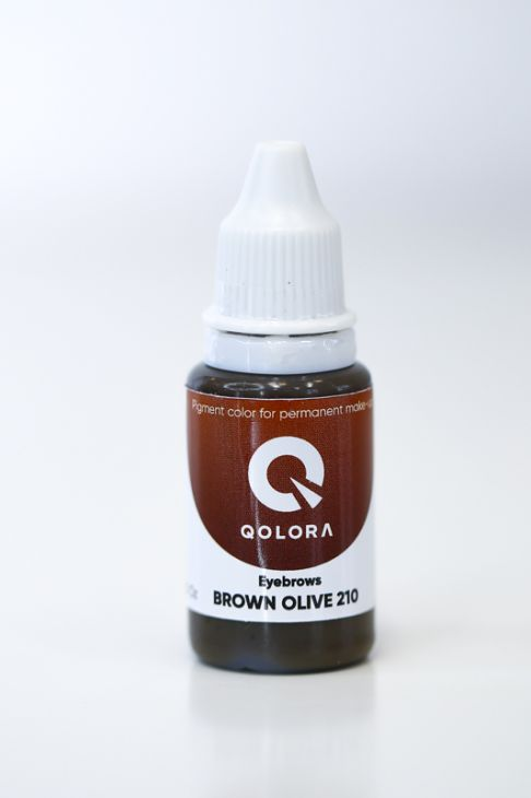 Пигменты QOLORA Eyebrows Brown Olive 210