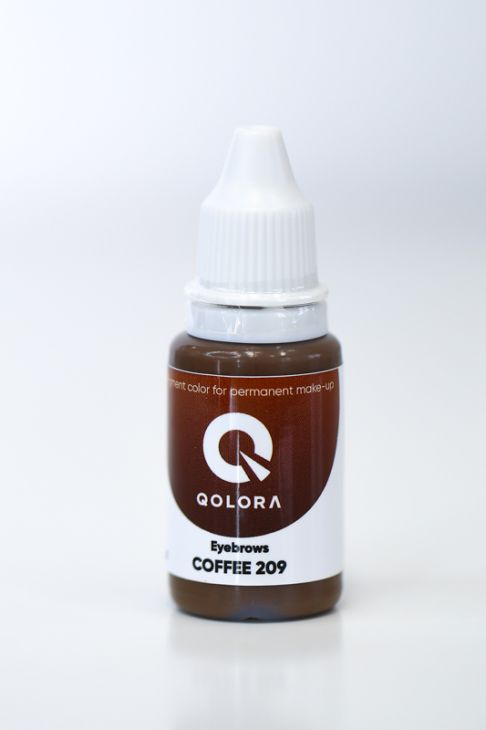 Пигменты QOLORA Eyebrows Coffee 209