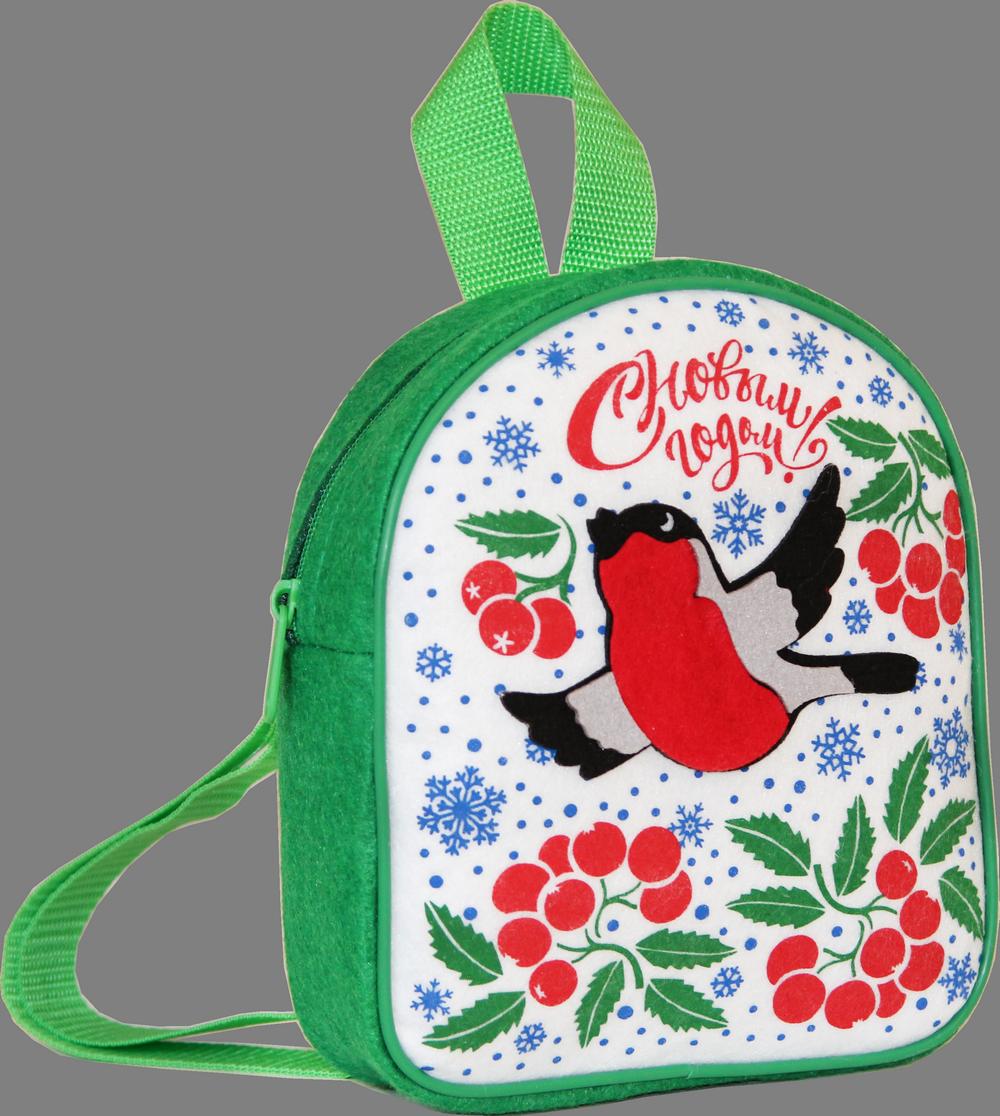 Рюкзак Новогодний зеленый 1000 грамм (ФЕТР)