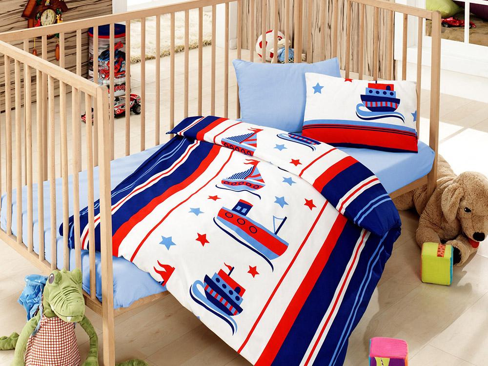 Детское постельное белье Кораблики