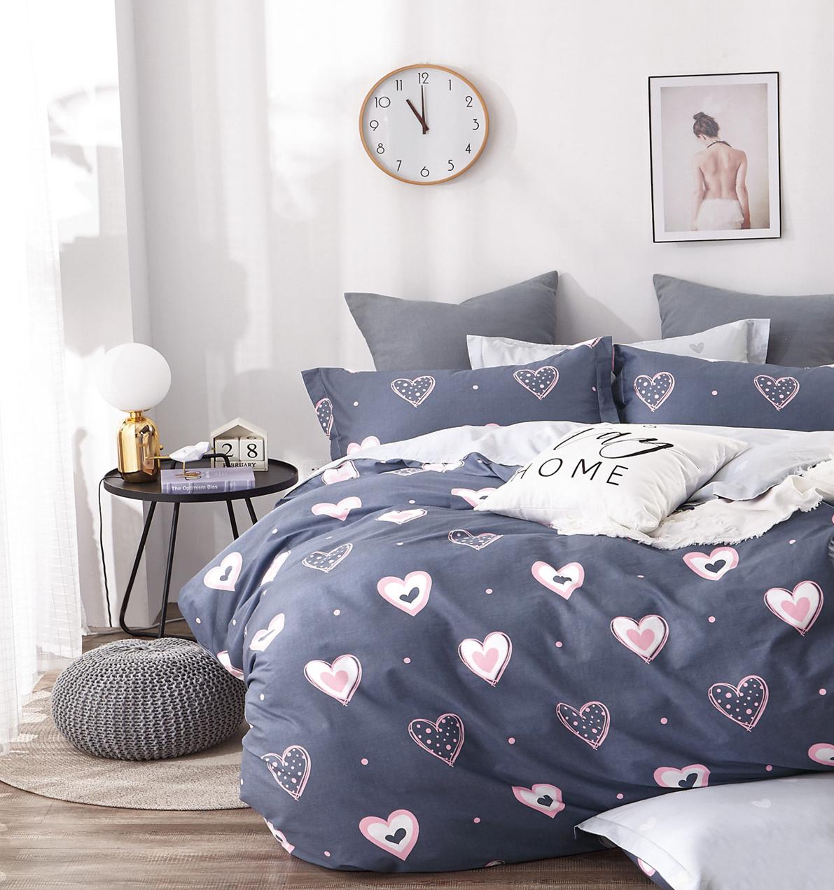 Детское постельное белье Розовые сердечки