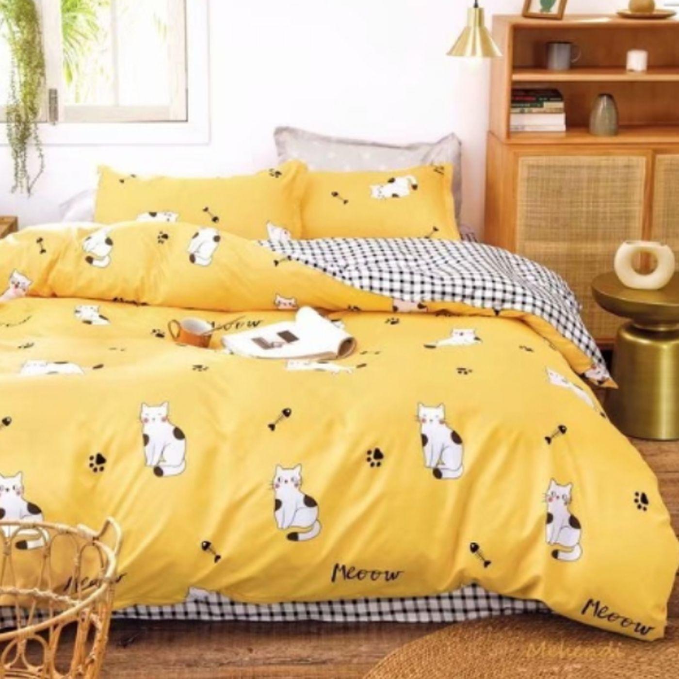 Детское постельное белье Желтые котики
