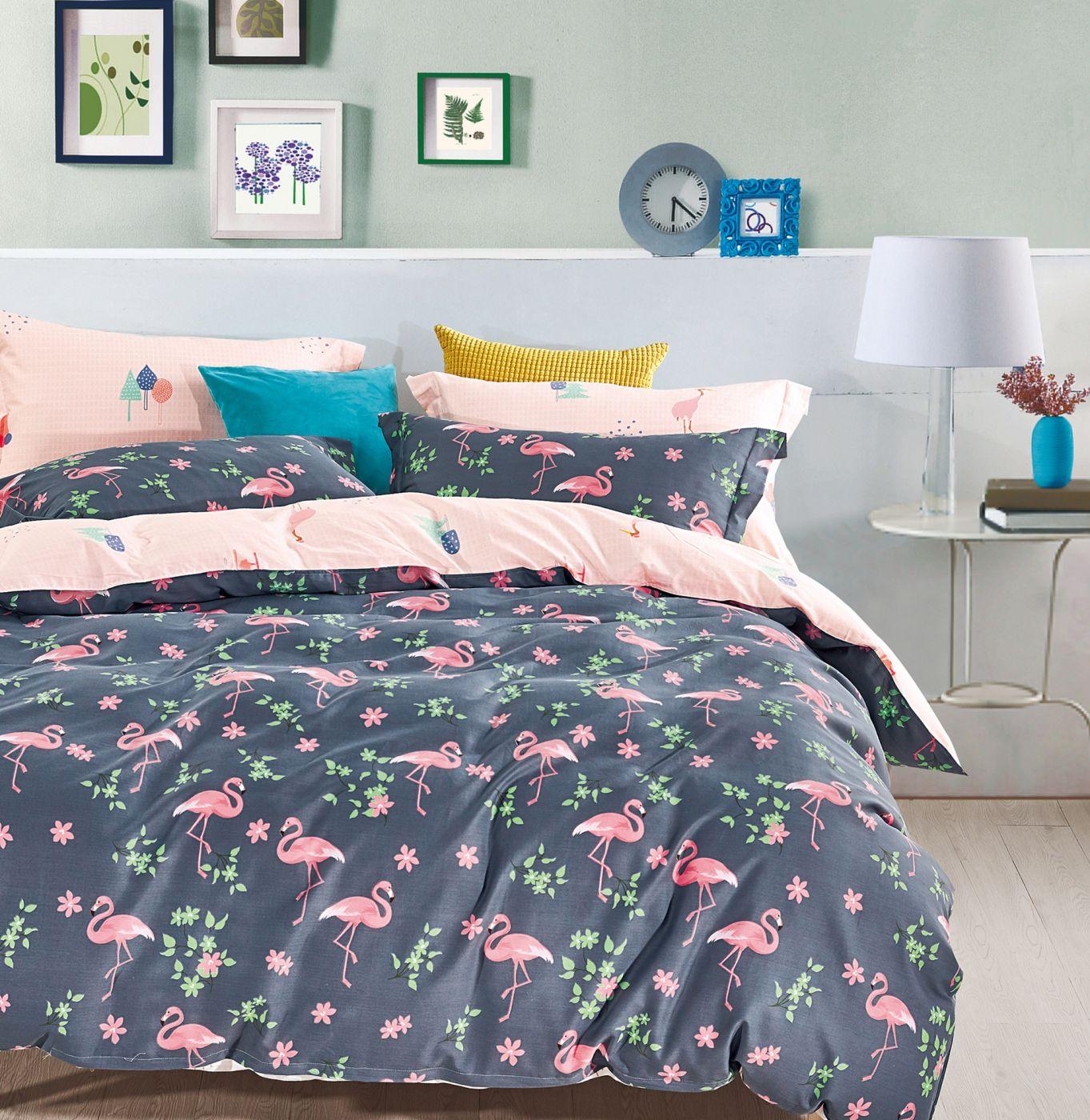 Детское постельное белье Розовый фламинго