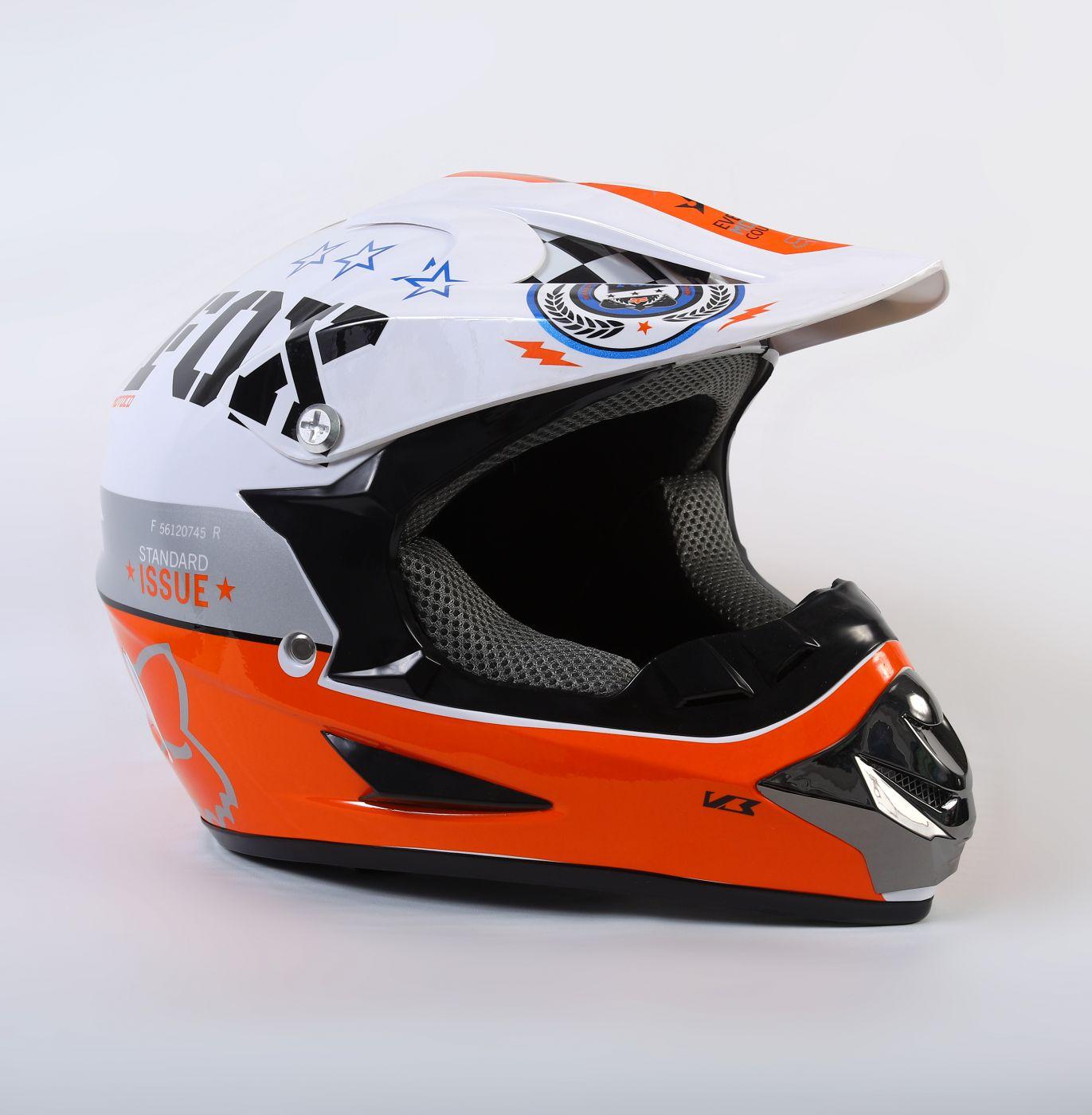 Шлем кроссовый Fox Orange