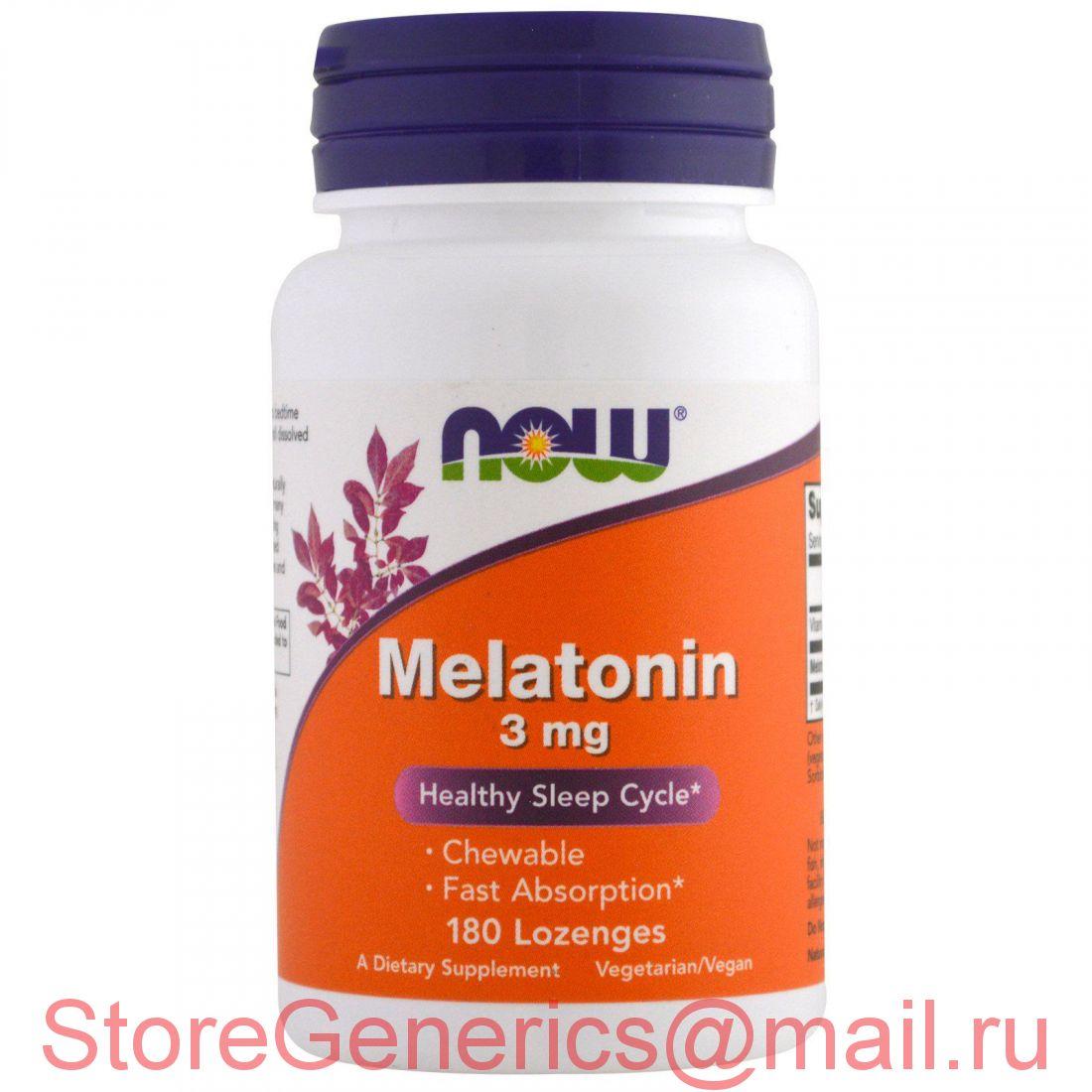 Мелатонин 3 мг 180 пастилок