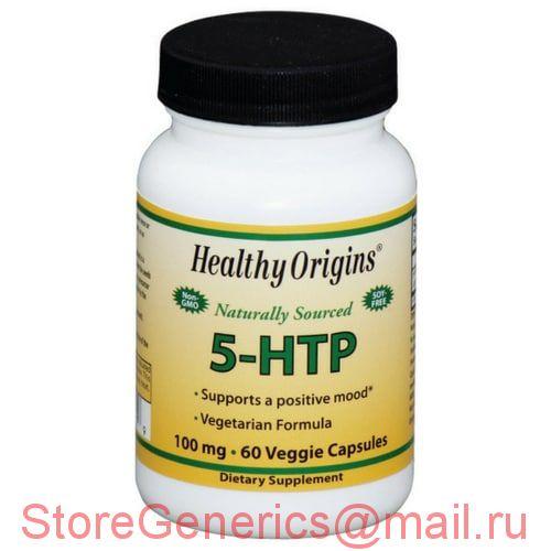 5-HTP (Гидрокситриптофан) 100мг, Healthy Origins, 60 гелевых капсул.