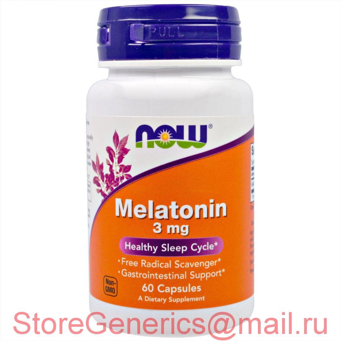 Мелатонин 3 mg NOW 60 капсул