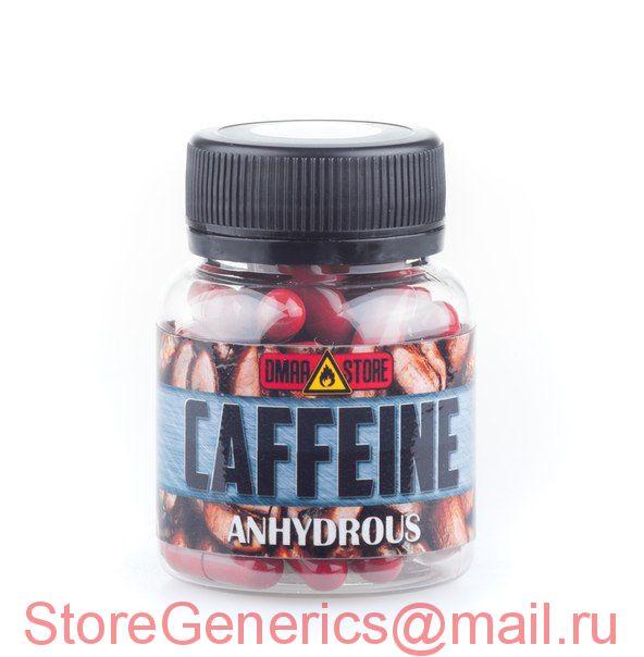 Кофеин (200 мг) 50 капсул (Caffeine Anhydrous Безводный )